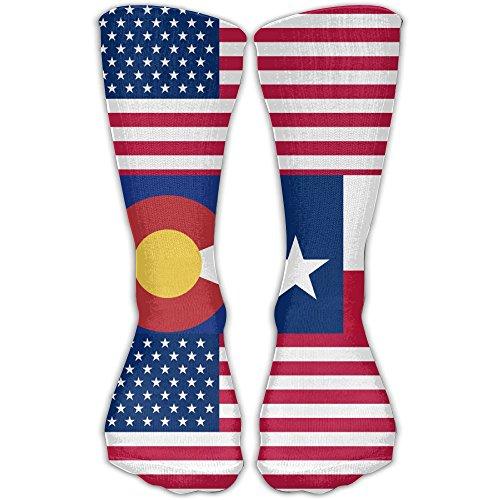 Usa Colorado Teaxs Flag Men's Women's Stylish Socks Athletic Sports - Colorado Stores Australia