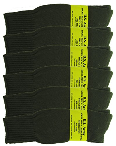 Olive Drab U S  Army Sock Package   6 Pairs   Small