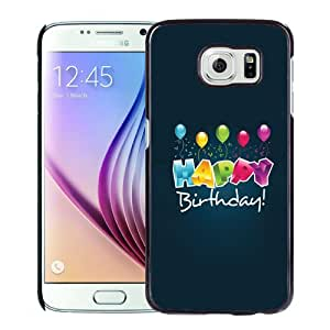 Beautiful Custom Designed Cover Case For Samsung Galaxy S6 With Happy Birthday Balloons Phone Case