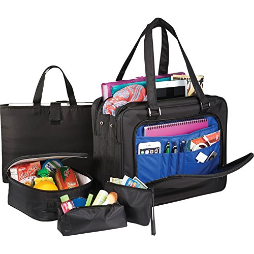 5-in-1 Office Commuter Women Briefcase Laptop Tote Bag Set with Free 41