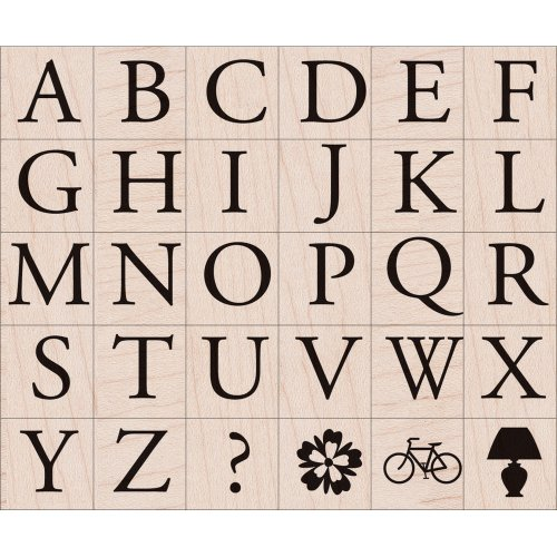 Hero Arts LP1799-LP194 Mounted Rubber Stamp Set, Garamond Letters ()