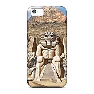 Iphone 5c SmI13152MZSq Support Personal Customs Colorful Iron Maiden Backtime Pictures Anti-Scratch Cell-phone Hard Cover -AnnaDubois