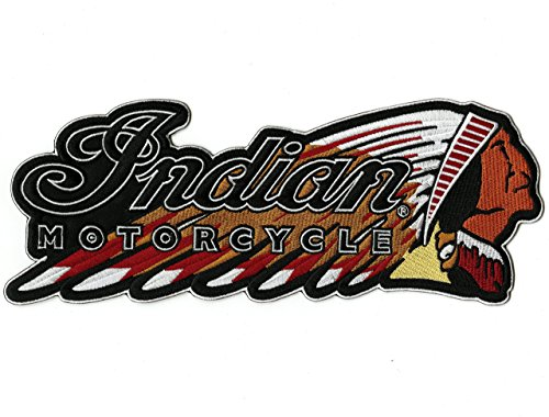 Indian Motorcycle Warbonnet Patch Headdress Iron On for Jacket Embroidered Large - by Nixon Thread Co. (11.5