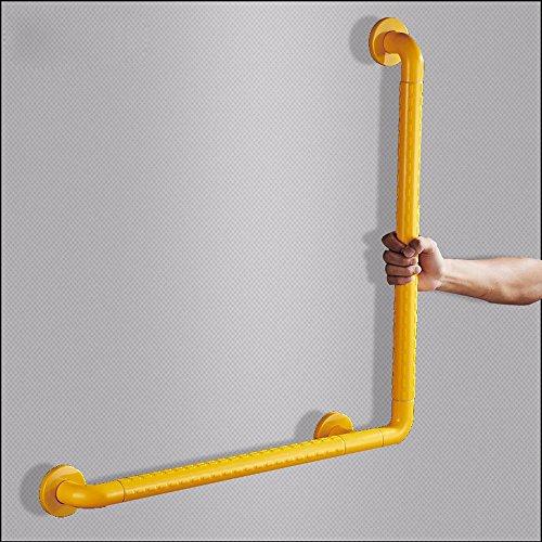 MDRW-Safety Handrail Bathroom Armrest Nylon Stainless Steel Bathroom Safe Bathroom Armrest Disabled Safety Catch Rod 500500Mm by Olici
