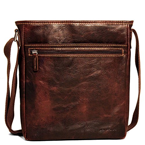 Jack Georges Voyager Leather Crossbody Bag, Messenger for sale  Delivered anywhere in USA