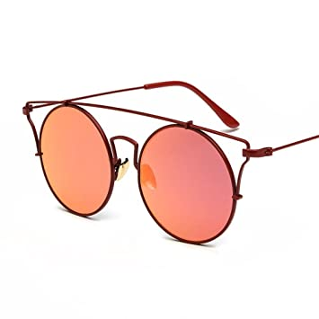 Luziang Personalidad Redondas Gafas Mujer Gafas de Sol ...