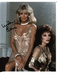 "* LINDA EVANS * sexy ""Dynasty"" w/Joan Collins signed 8x10 photo / UACC RD # 212"