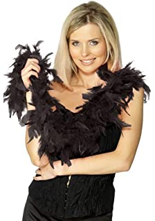 4a3ce162bd8 Ladies Sexy Black Red White Pink Feather Boa Scarf 1920s Flapper Fancy  Dress Costume Accessory