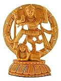 HOUZZPLUS Wooden Handicraft Dancing God Shiva Natraj / Nataraja Statue Idol Home Decor Antique Showpiece Gift Item - 10 x 4 x 13 cm, Brown