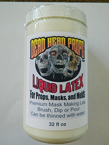 HALLOWEEN PROP Building - 32oz thick and creamy Professional liquid latex for Masks, Props and Molds