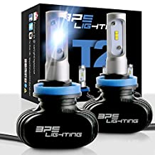 BPS Lighting T2 LED Headlight Bulbs Conversion Kit - 50W 8000 Lumen 6000K 6500K - Cool White - Super Bright - Car and Truck High and Low Beam - All-in One - Plug and Play … (H8/H9/H11)