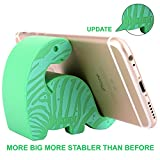 "Plinrise Animal Phone Stand, Update New Zebra Stripe Dinosaur Silicone Phone Holder, Creative Universal Phone Ipad Tablet Stand Mounts,Size:1.3"" X 3.0"" X 2.7"" - Green Green"