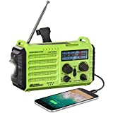 Weather Radio - Rocam Emergency Hand Crank Portable Radio Solar Power AM/FM/SW/NOAA Weather Radio with 2000mAh Power Bank Pho