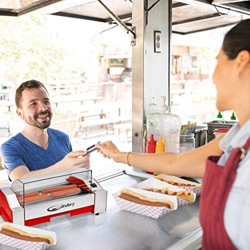 The Candery Hot Dog Roller Máquina De Cocción De Salchicha 6 Hot Dog Capacity Máquina De Perro Caliente Doméstico Para Niños Y Adultos Kitchen Dining Amazon Com