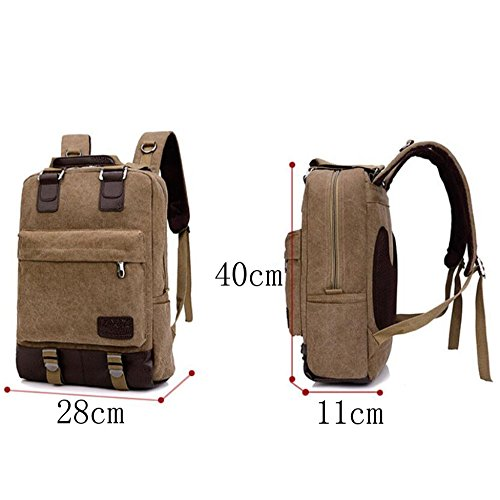 Fashion Student Backpacks Outdoor Bags Retro And Travel Men Canvas Women Backpacks Laptop Black 7wRqwPU