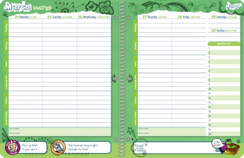 student planner 2014 2015 school year planner elementary school content 85x11 amazoncouk office products