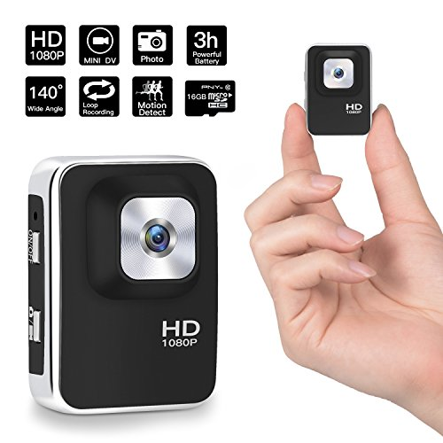 1080P Mini Hidden Camera,DigiHero 16GB Mini Camera.Support Looping Recording Video/Snapshot/Motion Detection,Portable Mini Video Recorder for Home and Office (16GB TF Card Included) (Very Small Camera Spy)