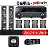 Polk Audio TSi 500 7.1-Ch Home Theater Speaker System with Yamaha AVENTAGE RX-A770BL 7.2-Ch 4K Network AV Receiver