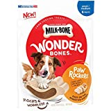 Milk-Bone Wonder Bones Paw Rockers with Real Chicken, Long Lasting Dog Treats, Small-Medium, 18.8 oz Pouch