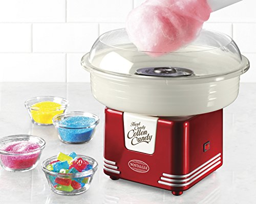 Nostalgia-PCM405RETRORED-Retro-Series-Hard-Sugar-Free-Candy-Cotton-Candy-Maker
