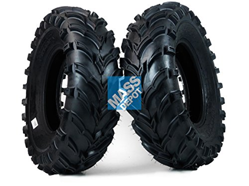 One Pair of MassFx P377 ATV/UTV Front Tires 25x8-12 Front Set of 2 25x8x12 by MASSFX
