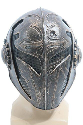 Metal Mask (Men's New Knights Full Face Mask Templar K Cosplay Mask Bronze)