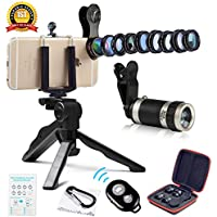 Cell Phone Camera Lens Kit by Ailuki with Professional...