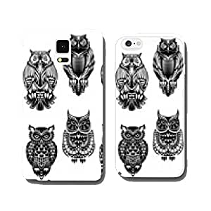 Tribal owl birds set cell phone cover case Samsung S6