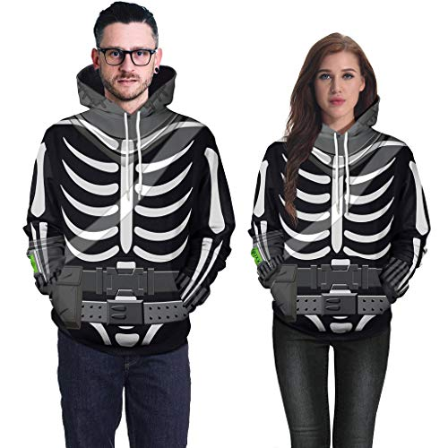 Sweatshirt for Couple, BXzhiri Couple's Scary Halloween Tops Lover Mens Casual 3D Print Party Long Sleeve Hoodie
