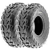 SunF 20x7-8 20x7x8 ATV UTV A/T Quad Race Replacement 6 PR Tubeless Tires A007, [Set of 2]