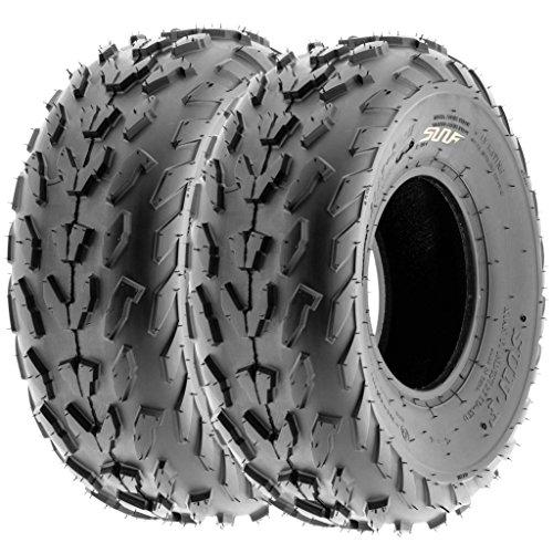 SunF 23x7-10 23x7x10 ATV UTV A/T Quad Race Replacement 6 PR Tubeless Tires A007, [Set of 2]
