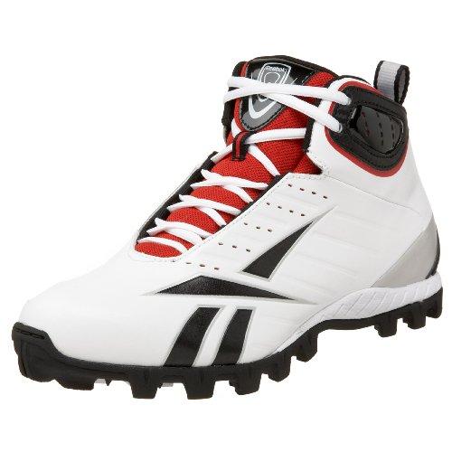 Black White Lacrosse Red Mid Bulldodge AT III Reebok Silver Men's Shoe qg880f