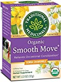 Traditional Medicinals Organic Smooth Move Senna Chamomile Laxative Tea, 16 Tea Bags (Pack of 6)