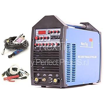 Soldador inverter TIG Wig AC/DC Puls nextig NX 250 TIG Alu Puls + Spot Welding: Amazon.es: Hogar