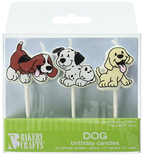 Oasis Supply Dog Birthday Candles,6-Piece, 1 1/4