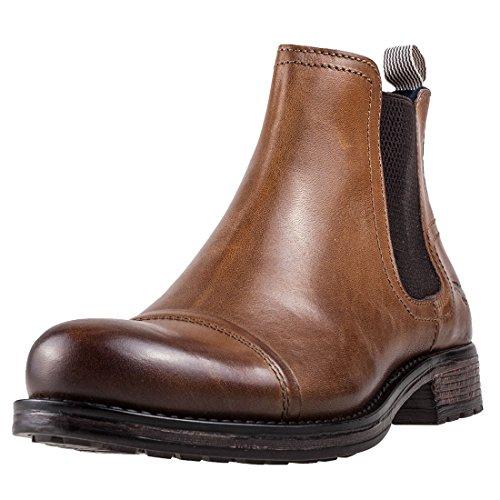 Mustang Ankle Boot Herren Chelsea Stiefel Cognac