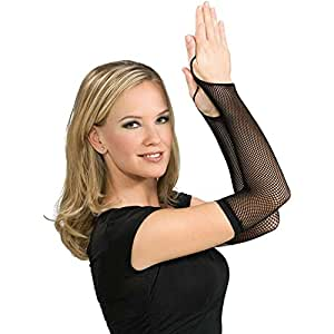 Rubie's Costume Co Black Fishnet Arm Warmers Costume