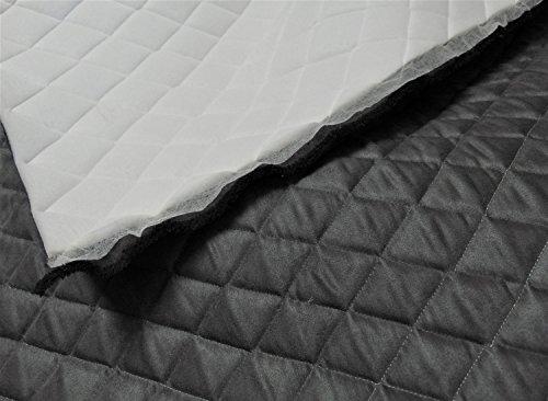 Suede Quilted Auto Headliner Charcoal Headboard Fabric with 3/8