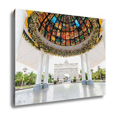 Ashley Canvas, Pavilion With Stained Glass, 24x30 by Ashley Canvas