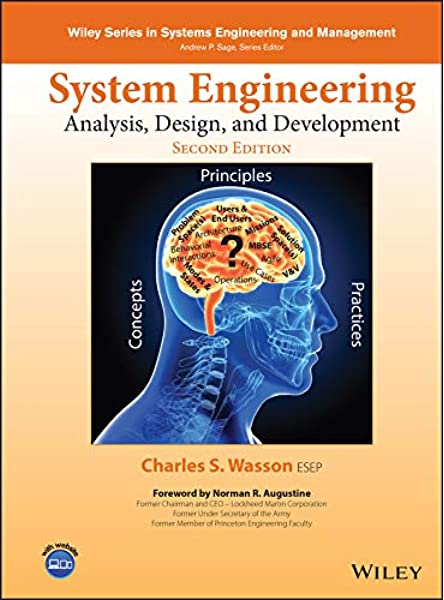 System Engineering Analysis Design And Development Concepts Principles And Practices Wiley Series In Systems Engineering And Management Wasson Charles S 9781118442265 Amazon Com Books
