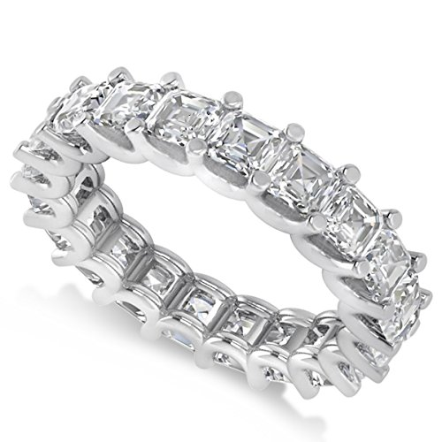 Allurez Radiant-Cut Diamond Eternity Wedding Band Ring in 14k White Gold (5.00ct) Radiant Cut Diamond Eternity Band