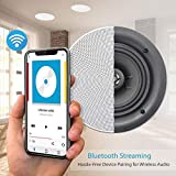 Pyle 8 inch 4 Bluetooth Flush Mount In-wall
