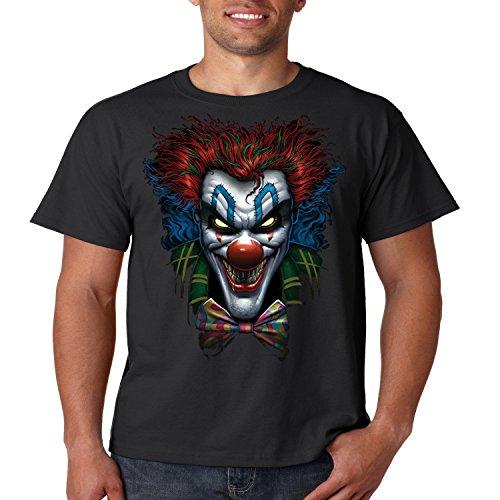 Evil Clown T Shirt Psycho Clown Liquid Blue Mens Tee S-5XL (Black, XL) ()
