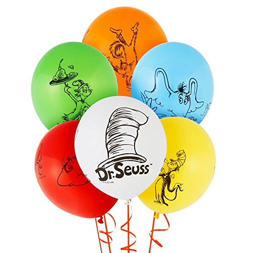 Birthday Decorations Dr Seuss (Dr Seuss Cat in the Hat Party Supplies - Themed Latex)