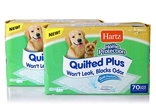 - Hartz Home Protection Quilted Plus Clean Powder Scented Dog Pads - 140 Count