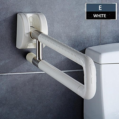 Bathroom Grab Bar Flip Up Toilet Safety Frame Rail Shower Handicap Bars Medicial Bathroom Aids Armrest (Stainless Steel covered with ABS) , C by TSAR003