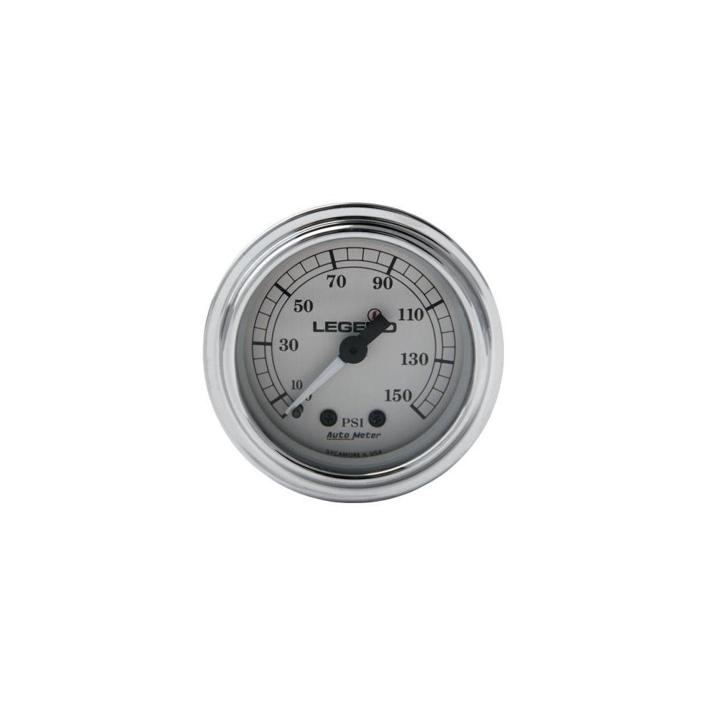 Legends Fairing Mounted LED Backlit PSI Gauge - Silver with White Face 2212-0485 by Legends (Image #1)