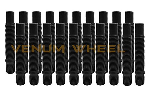 Venum wheel accessories 20 Pc 12x1.5 90mm Long Black Stud Conversion Kit for BMW Vehicles M12x1.5 (Replaces Lug - Wheel Studs Replace