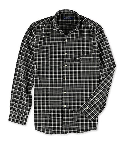 Polo Ralph Lauren Slim Checked Twill Shirt (Medium, Black and - Online Lauren Outlet Ralph