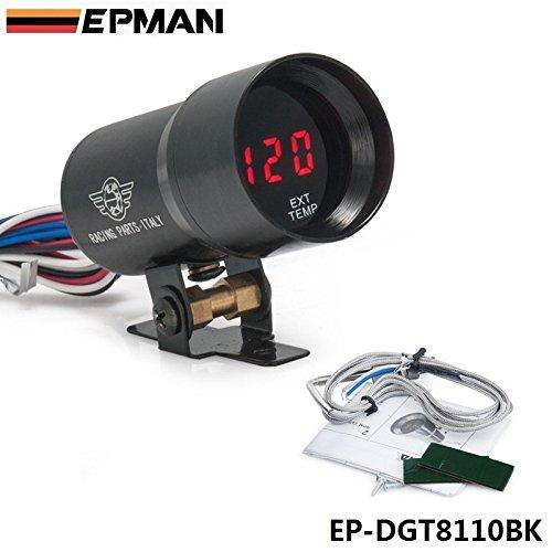 Exhaust Temperature Egt Gauge - EPMAN 37MM Digital Smoked Lens Exhaust Gas Temperature EGT Gauge (Black)